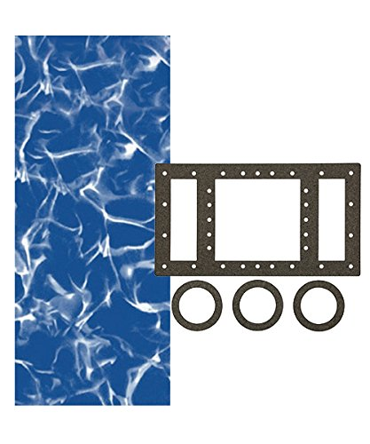 - Smartline Sunlight 18-Foot Round Liner | Overlap Style | Up to 54-Inch Wall Height | 20 Gauge Virgin Vinyl | Designed for Steel Sided Above-Ground Swimming Pools | Universal Gasket Kit Included
