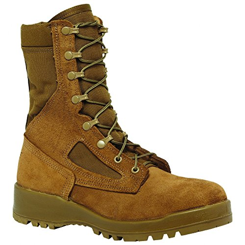 Belleville 551 Hot Weather Steel Toe Coyote Tan 8 Combat Boot, Made in USA Olive Green