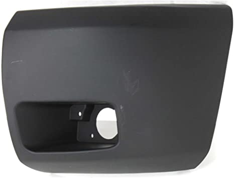 New Right Side Front Bumper End w// Fog Light Hole for Chevy Silverado 1500 07-13