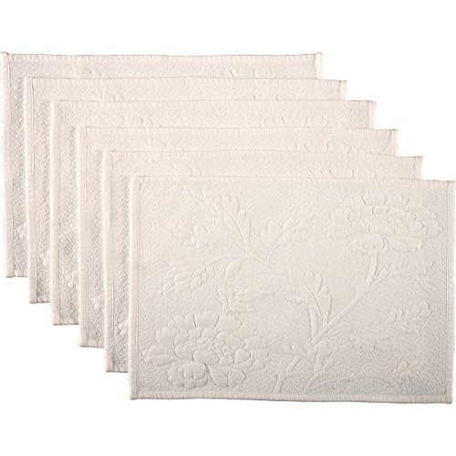 Quilted Placemat Set - VHC Brands Farmhouse Tabletop & Kitchen-Carly White Quilted Placemat Set of 6, One Size