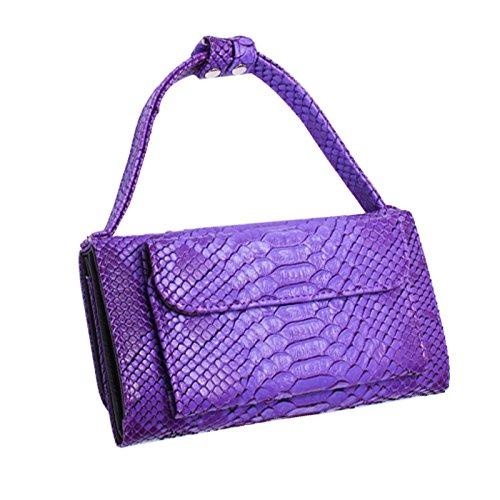 Bolso De Hombro De Cadena De Embrague De Cuero De Moda Para Mujer Bolso De Hombro De Cartera De Largo Clásico De Cartera De Mujer Purple