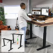 Boost Floor Standing FS-DR24C Manual Crank Height Adjustable Desk Frame (Black)