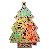 Wooden Christmas Tree Lights & Melody Pop Up Greeting Card