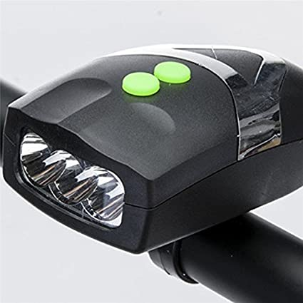 40726ba6376 Image Unavailable. Image not available for. Color  Ultra Bright 3 LED Bike  Bicycle Light Bicicleta White Front Head Light Lamp With Cycling Electronic