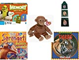 Children's Gift Bundle - Ages 3-5 [5 Piece] - Shrek Forever After Memory Game - Crayola Green Crayon 3-Tier Picture Frame - Ty Beanie Baby - Bongo the Monkey - Badu's Bad Day 3D Storybook Hardcover