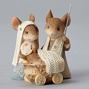 Amazon.com: Enesco Heart of Christmas Mice Nativity Pageant ...