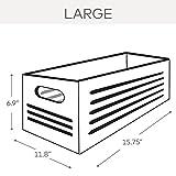 Wooden Storage Bin Container - Decorative