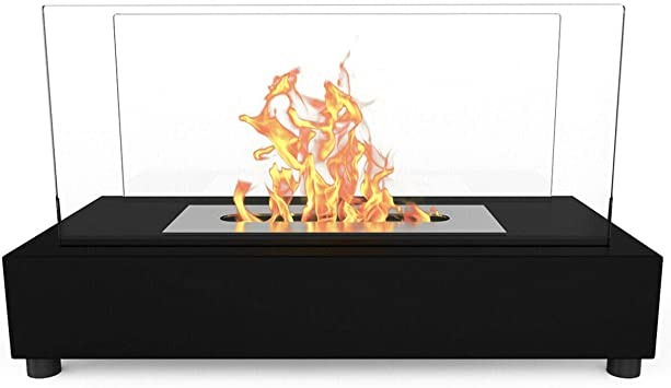 Bio ethanol fireplace Indoor Outdoor Portable Camping Table Top Fire Burner New