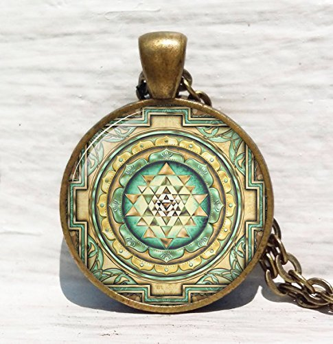 Jewelry tycoon®Sri yantra pendant, Sacred geometry jewelry, Sri yantra jewelry, Jewelry for men, necklace for men, Sri yantra necklace, Buddhist