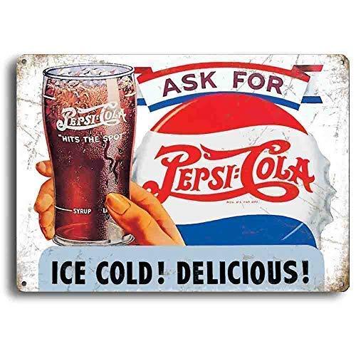 Ask For Pepsi-Cola, Retro Suave Bebidas Publicidad, Metal ...