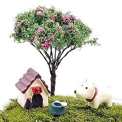 Garden Landscaping & Decking - Small Artificial Tree Shoyeido Moss Garden Mini Ornaments - 3pcs Vario Mini Cute Animal Micro Landscape Garden Diy Decor - Fake Fairy Garden Plants