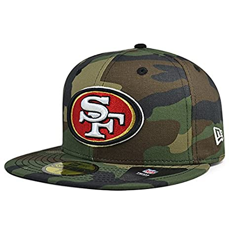 the latest b75f5 b81c1 New Era San Francisco 49ers NFL Woodland Camo 59Fifty Fitted Hat (7 1 2