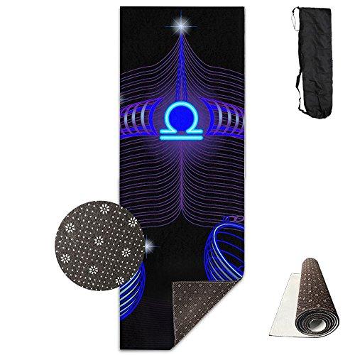 GIRLSHI Beautiful Mysterious Constellation Libra Printed Yoga Mat, Super Thick Anti-slip Sports And Fitness Mat