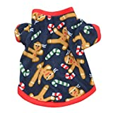 HP95(TM) Small Dog Customes, Christmas Pet Dog Puppy Autumn Winter Warm Pullover Embroidered Clothes Coat (M, Blue)