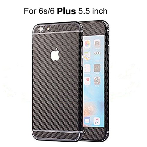 separation shoes 296d8 17436 Toeoe 6/6s Plus (5.5'') Luxury 3D Textured Carbon Fibre Full Body Vinyl  Wrap Sticker Skin Cover for Apple iPhone 6 Plus 5.5 inch Black