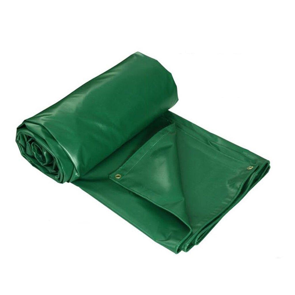 HGNA-Zeltplanen Zelt Zubehör Plane Grüne Mehrzweckwasserfeste Plane-UVBesteändige Plane für Das Kampieren und im Freien 450g   m², Stärke 0.4mm, Multi-Größe Wahlen Idee für Camping Wandern