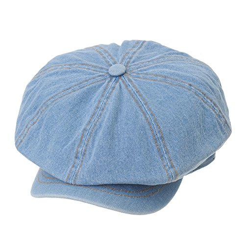 a8b140b1be5f4 WITHMOONS Denim Cotton Newsboy Hat Baker Boy Beret Flat Cap KR3613 ...