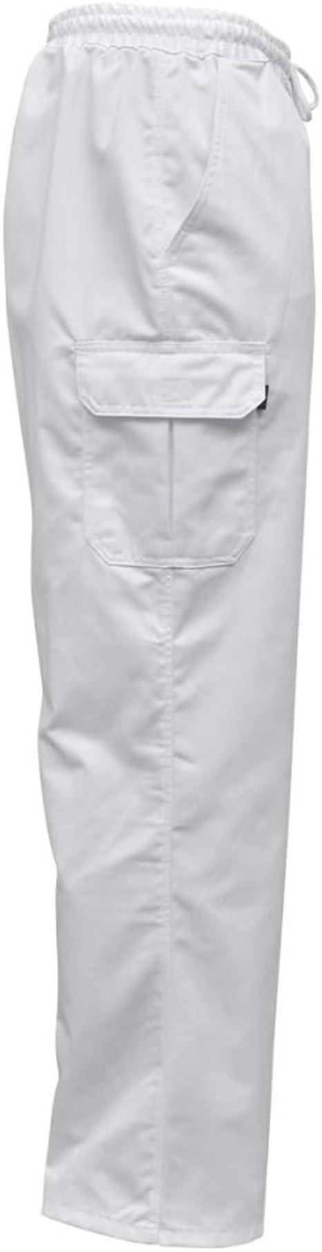 vidaXL 2 Pz Pantaloni da Cuoco Cuochi Lavoro Cintura Elastica Colori e Taglie Diversi