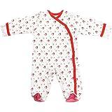 Babysoy Baby Organic Cotton Pattern Footie Pajamas (Penguin, 3-6 Months)