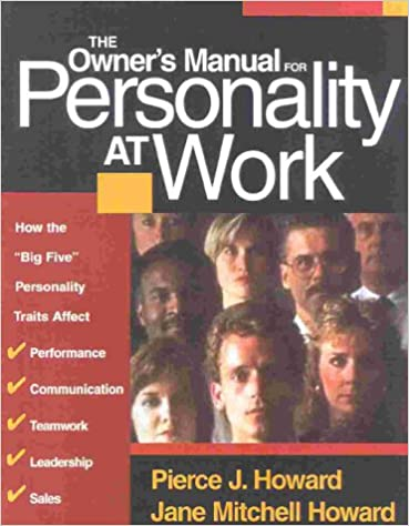 Amazon com: The Owner's Manual for Personality at Work: How