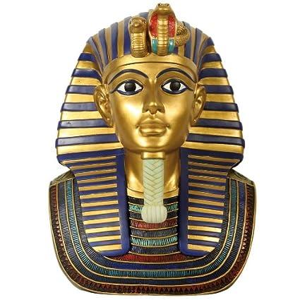 Faraón egipcio tut de ench de Amun Máscara. Busto. mithologie. 31 x 19
