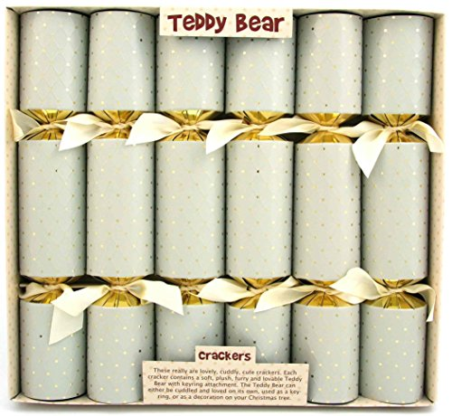 6 Cuddly Teddy Bear Christmas Crackers