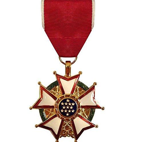 Vanguard Full Size Legion of Merit Military Medal Award (LOM)- 24K Gold Plated ()