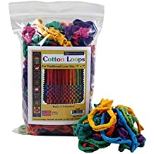 """Harrisville Designs Traditional 7"""" Cotton Loops, Multi-color Pack - Makes 2 Potholders"""