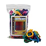 ": Harrisville Designs Traditional 7"" Cotton Loops, Multi-color Pack - Makes 2 Potholders"
