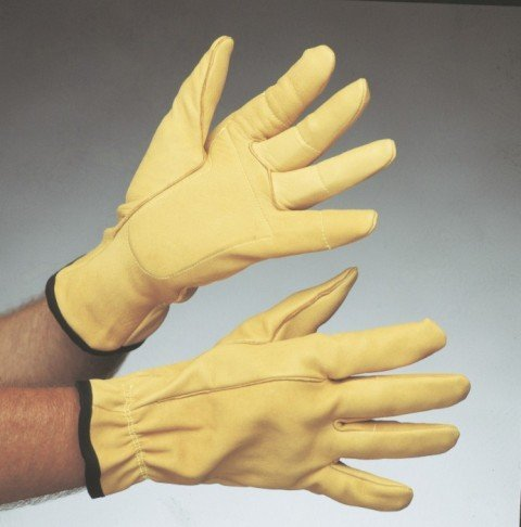 Impacto Air Glove BG650 Yellow XL Leather Work Gloves - BG65050 [PRICE is per PAIR]