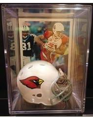 Arizona Cardinals NFL Helmet Shadowbox w/ Larry Fitzgerald card