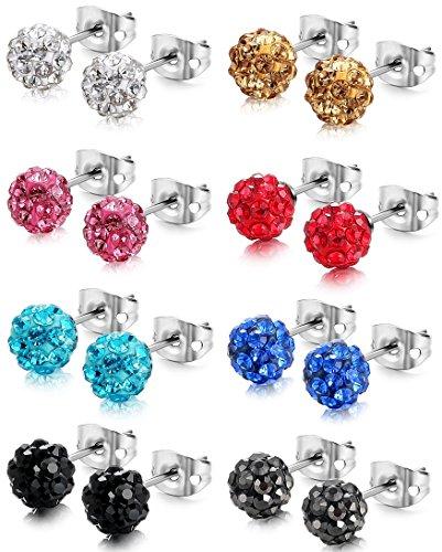 Jstyle Crystal Earrings Children Piercings