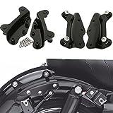 Motorcycle 4-Point Docking Hardware screws For Harley-Davidson Touring 2009-2013 (Black)