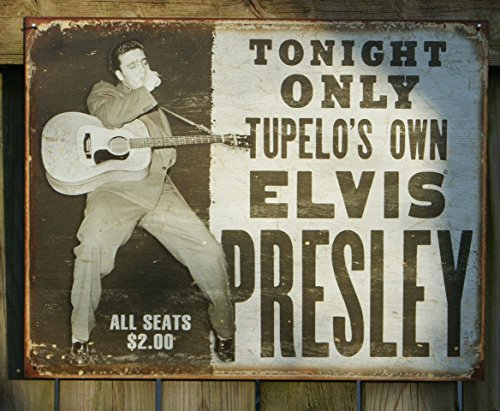 Tin Sign 16 x 13in (Elvis Tin)
