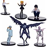 Anime Death Note L Killer Ryuuku Rem Misa Amane PVC Action Figure Juguetes 6pcs/set