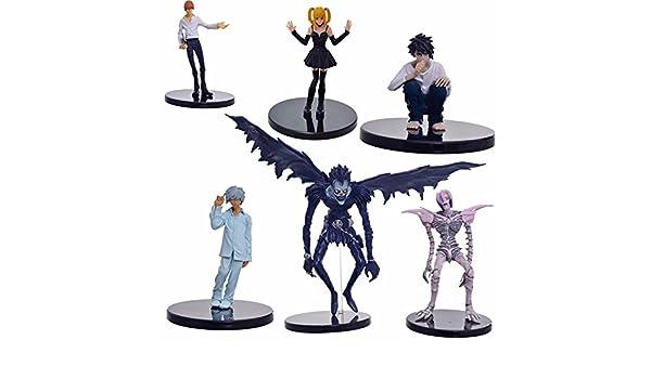Amazon.com: 6pcs/set Anime Death Note L Killer Ryuuku Rem Misa Amane PVC Action Figure Juguetes Collection Model Doll Kids Toys: Toys & Games