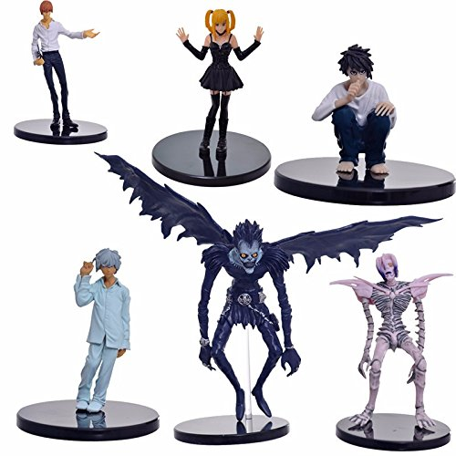 6pcs/set Anime Death Note L Killer Ryuuku Rem Misa Amane PVC Action Figure Juguetes Collection Model Doll Kids Toys (Female Action Heroes Costumes)
