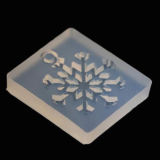 VAILANG Molde de Silicona Copo de Nieve DIY Artesan/ías Fabricaci/ón de Joyas Colgante Resina epoxi