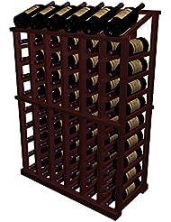 Half Height Display Wine Rack All Heart Redwood Classic Mahogany Stain