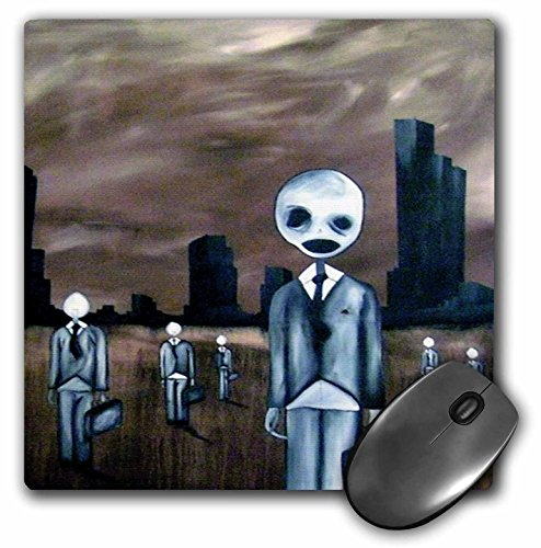 3dRose Dooni Designs Halloween Designs - Zombie Ghost Town - MousePad (mp_159525_1)
