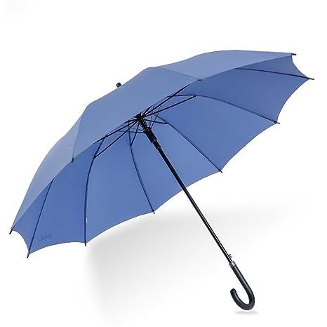 Paraguas plegables Simple y elegante de color sólido sol soleado paraguas hueso de acero más larga