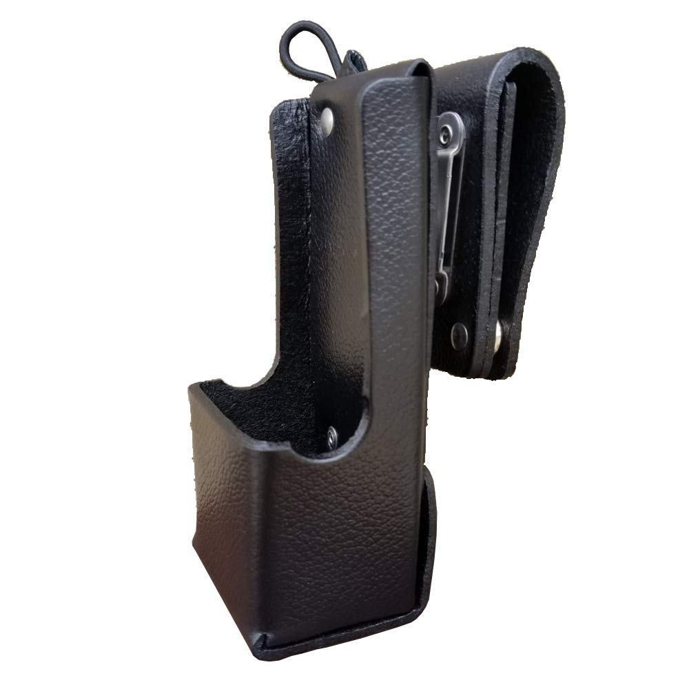 Case Guys MR8604-3AW Hard Leather Swivel Belt Loop Holster Case with Antenna Loop for Motorola APX 6000 8000 Two Way Radios