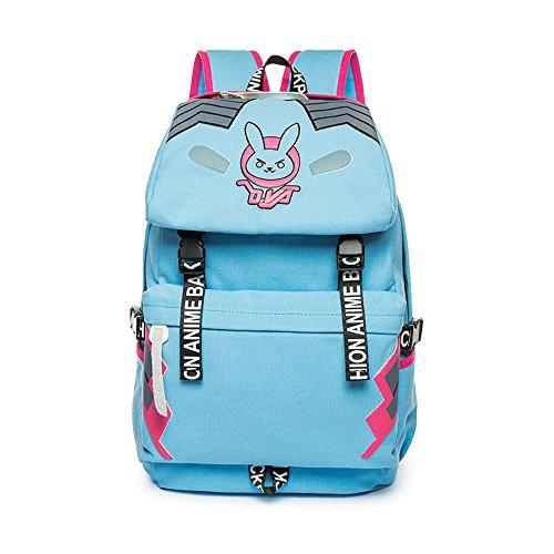 Dva Canvas Backpack Vintage Anime Casual Bookbag Bunny Bag for Teen Girls -