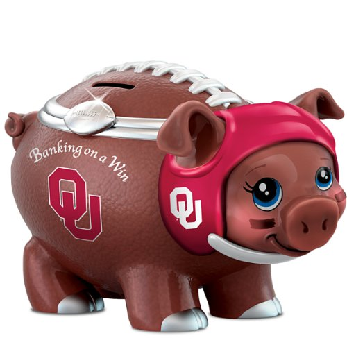 University Of Oklahoma Football Fan Piggy Bank: Banking On A (Oklahoma Sooners Piggy Bank)