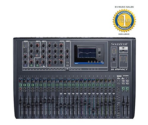 40 Channel 8 Bus (Soundcraft Si Impact 40-Channel Digital Mixer Console with Remote iPad Control)