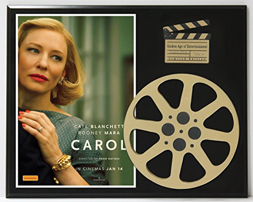 CAROL CATE BLANCHETT & ROONEY MARA POSTER LIMITED EDITION MOVIE REEL DISPLAY