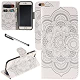 Urvoix iPhone 6 / iPhone 6S Case, Card Holder Stand Leather Wallet Case