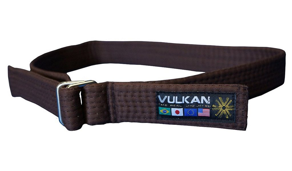 Vulkan Fight Company Street Wear Jiu Jitsu, Belt With Double-Ring Buckle For Martial Arts Sports, Brown, L by Vulkan