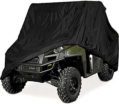 Side By Side Utv >> Heavy Duty Waterproof Superior Utv Side By Side Cover Covers Fits Up To 120 Lw Roll Cage Black Color Atv Cover For Rhino Ranger Mule Gator Prowler
