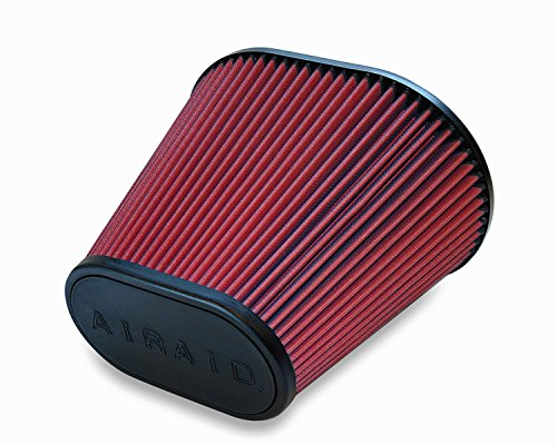 Airaid 720-476 Universal Clamp-On Air Filter: Oval Tapered; 6 in (152 mm) Flange ID; 9 in (229 mm) Height; 10.75 in x 7.75 in (273 mm x 197 mm) Base; 7 in x 4 in (178 mm x102 mm) Top